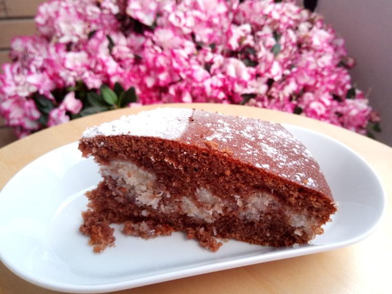 Ricetta torta al cioccolato e cocco fetta