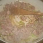 Pappardelle con salsiccia e porri