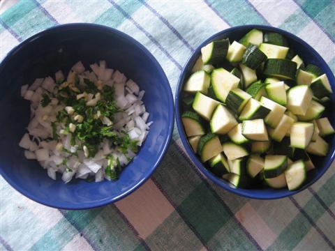 Pasta zucchine e emmenthal