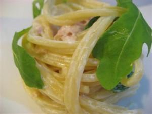 Spaghetti con salmone