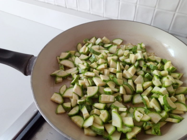 versare le zucchine