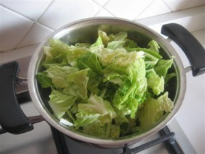 Pasta con verza e gorgonzola