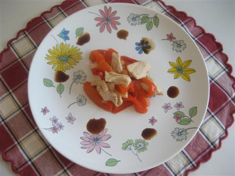 Petto di pollo con peperoni