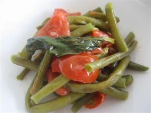 Fagiolini con pomodorini