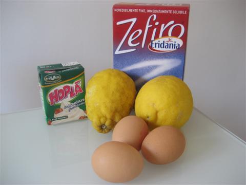 Ingredienti semifreddo al limone