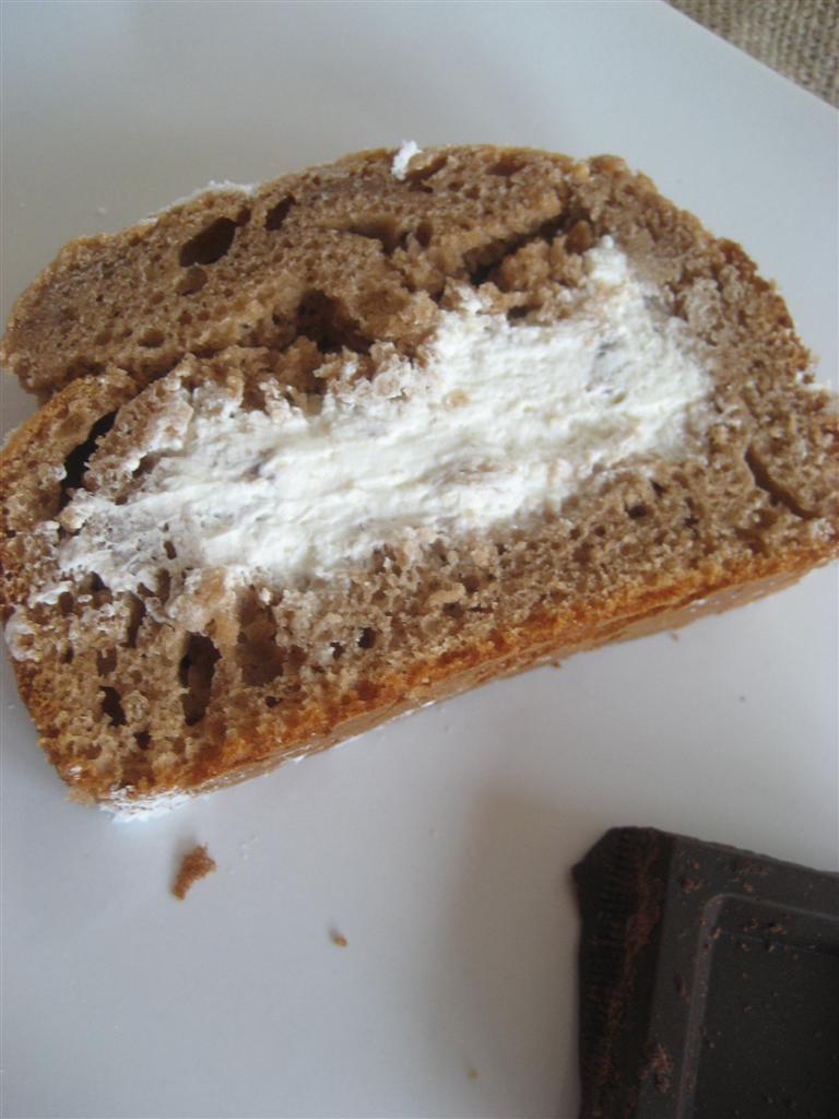 Presentazione Plum cake al cioccolato
