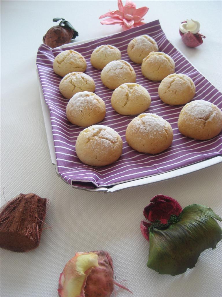 Presentazione biscotti al cocco