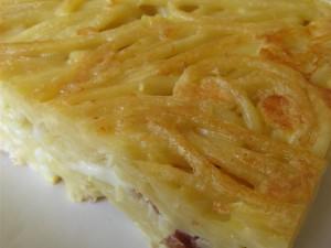 Presentazione frittata di pasta