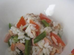 Presentazione insalata di riso