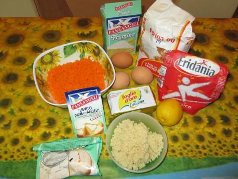 Ingredienti per torta di carote