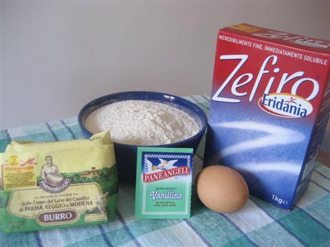 Ingredienti biscotti canestrelli