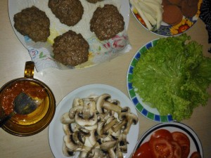 Ripieno hamburger fatto in casa