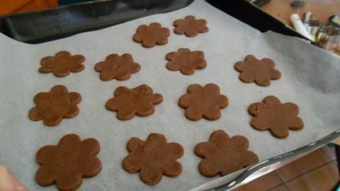 Mettere i biscotti nella placca del forno ben separati, infornare per 15 minuti circa a 180 gradi.