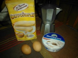 Ingredienti tiramisù mono-porzione