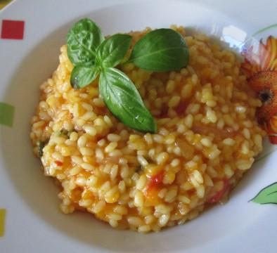 Per guarnire il piatto ho usato delle foglioline di basilico :) Buon appetito