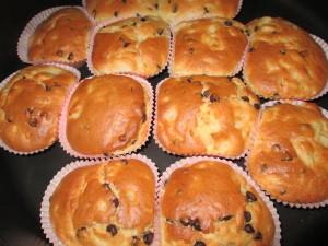 muffin alle pere con gocce di cioccolato fondente