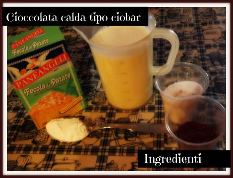 Ingredienti cioccolata calda
