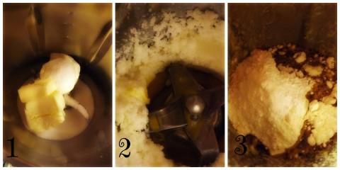 Procedimento per la Torta Moka -Bimby- passaggio 1 - 2 - 3