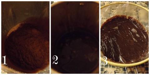 Procedimento per la realizzazione della Crema Moka. Passaggio 1-2-3