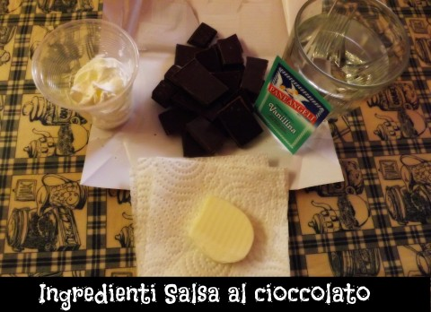 Ingredienti Salsa al cioccolato