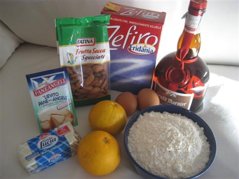 Ingredienti dolci di mandorle