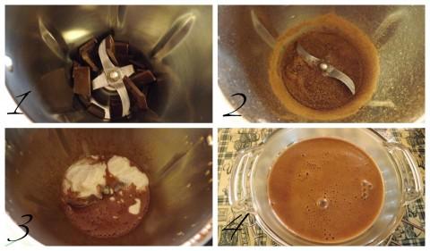 Procedimento salsa al cioccolato