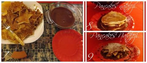 Procediemento per i pancakes con salsa al cioccolato