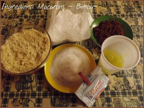 Macarons al cioccolato Ingredienti