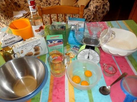Torta amaretti e caffè ingredienti