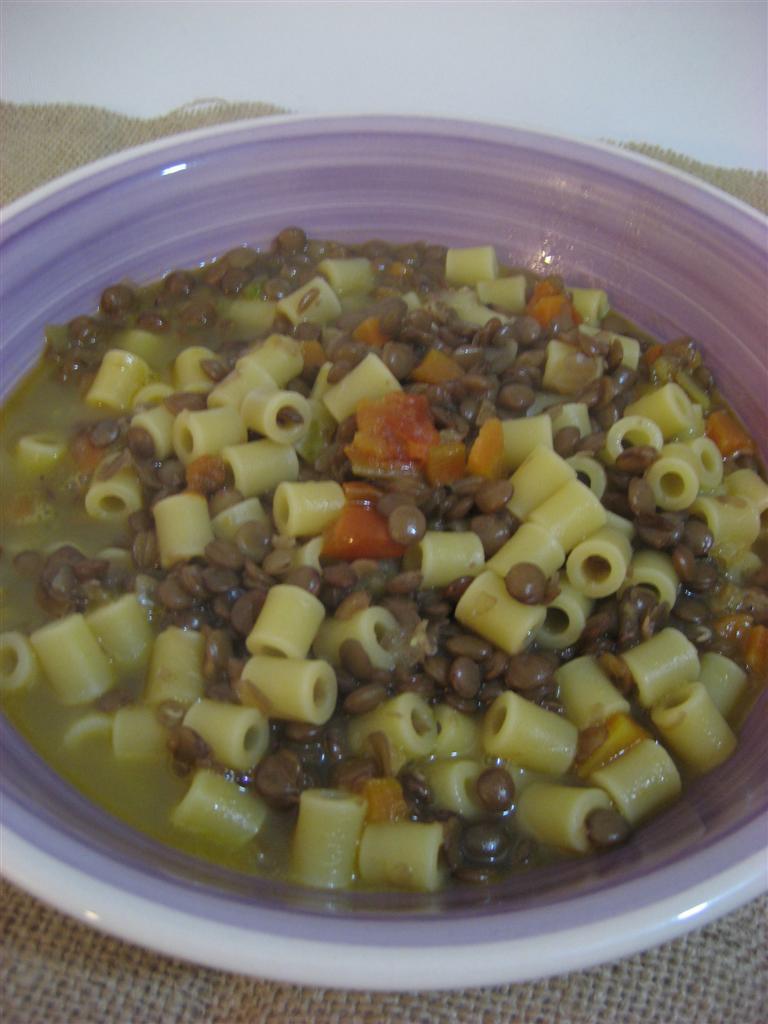 Pasta e lenticchie presentazione