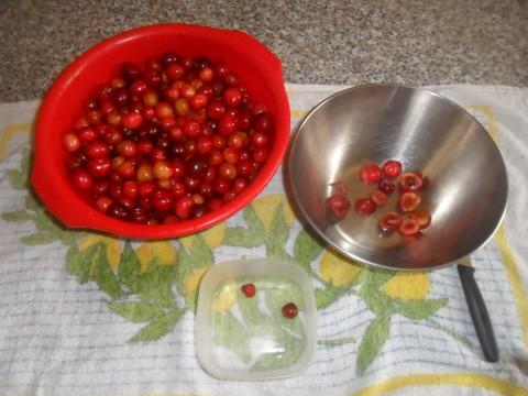 Lavate e denocciolate le ciliegie privandole del gambo.
