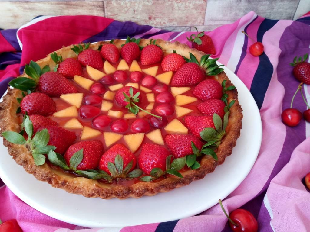 Crostata di frutta senza crema