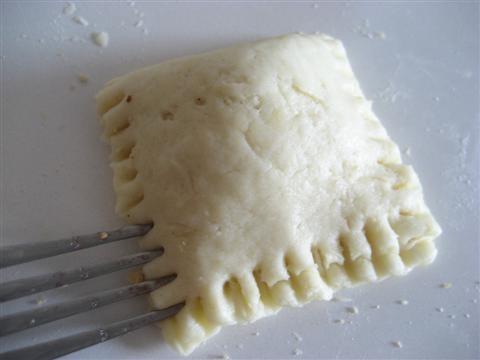 Sigillare con i lembi di una forchetta