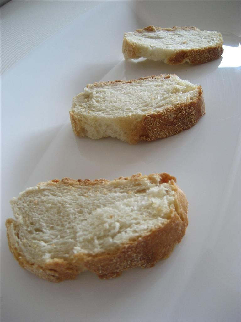riscaldare le fettine di pane in forno