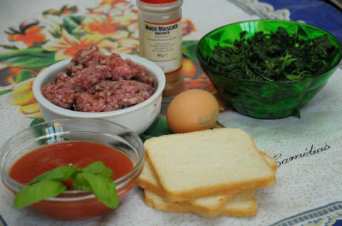 Polpette di carne con spinaci al pomodoro (alla Giudia)