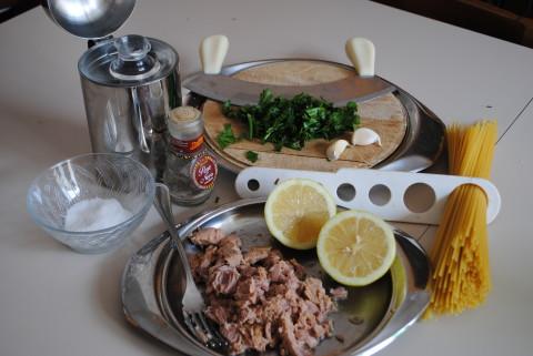 Spaghetti tonno e limone ingredienti