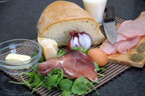 Gnocchi di pane su letto di rucola ingredienti