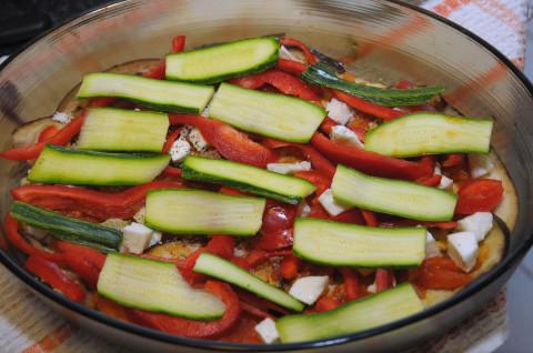 aggiungete zucchine e peperoni