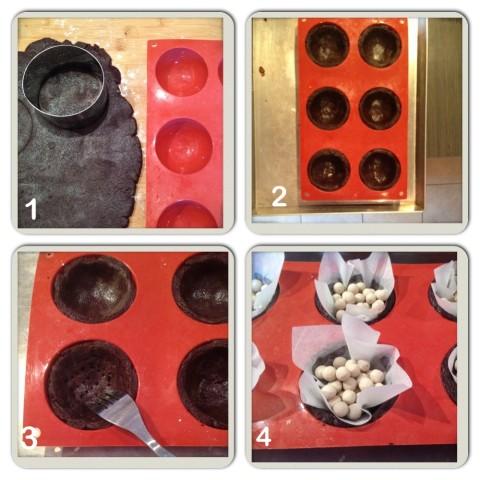 Coppare e cuocere la frolla