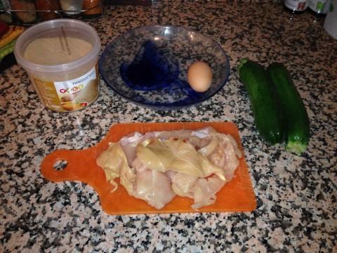 Bocconcini di pollo impanati con zucchine ingredienti