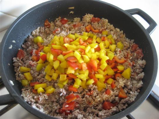 aggiungere i peperoni