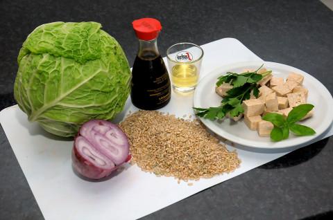 Involtini di verza,Tofu e riso integrale ingredienti