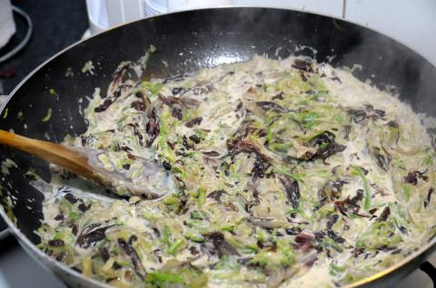 Ragù di zucchine e radicchio