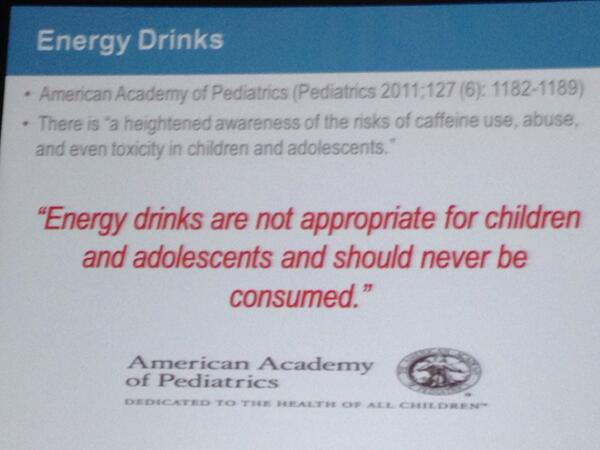 No agli energy drink per bambini e adolescenti