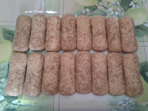fare il primo strato di biscotti