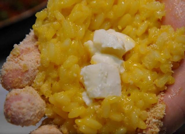 mozzarella nel centro del riso