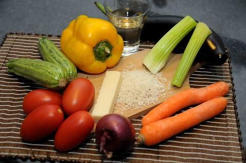 Ingredienti per il Risotto con le verdure