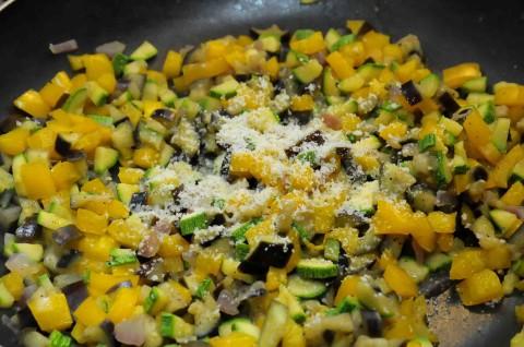 Parmigiano nelle verdure