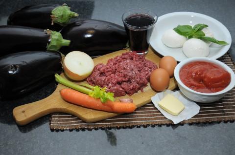ingredienti della Lasagna di melanzane