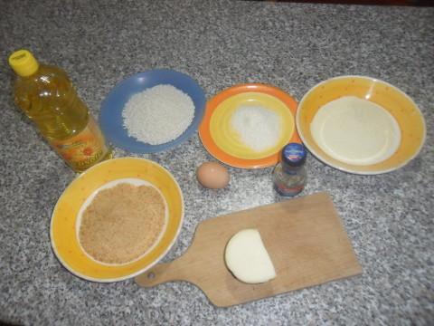Mini arancini di riso bianchi al pepe nero ingredienti